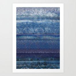 Textural Blue Art Print