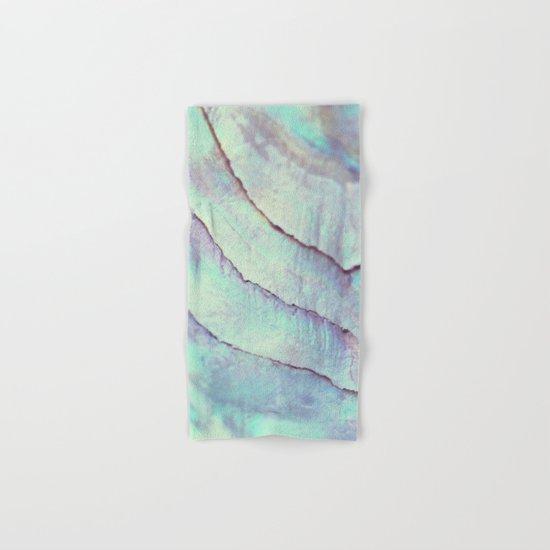 IRIDISCENT SEASHELL MINT by Monika Strigel Hand & Bath Towel