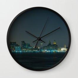 Liverpool UK Nightscape Wall Clock