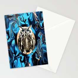 Burn the Midnight Owl Stationery Cards
