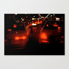 Taxi Lights Canvas Print