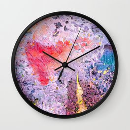 Lavender Hearts Wall Clock