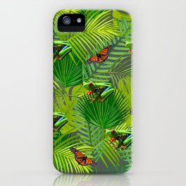Frogs and Monarchs iPhone Case