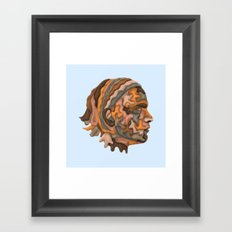 Self-portrait with Sheets Framed Art Print