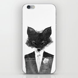 minima - dapper fox | noir iPhone Skin