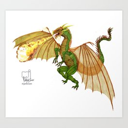 dragon_green   Art Print