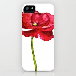 Ink Poppy Painting (Original Artwork) iPhone Case