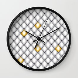 Fish Scale Pattern Design Wall Clock