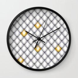 Fish Scale Pattern Design Wall Clock