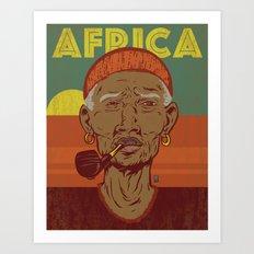 Modern Africa Art Print