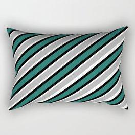 Green black gray black white Rectangular Pillow