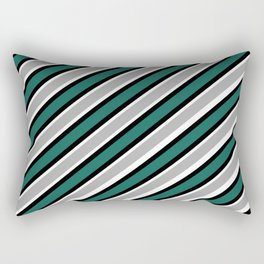 TEAM COLORS 1…Green black gray black white Rectangular Pillow