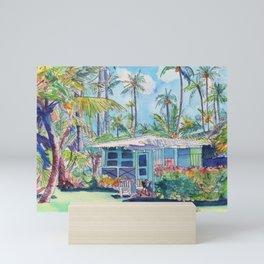 Kauai Blue Cottage 2 Mini Art Print