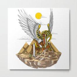 Egyptian Pyramids Sphinx Metal Print