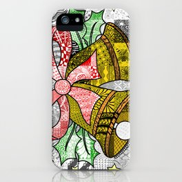 Coloured Christmas Bells iPhone Case