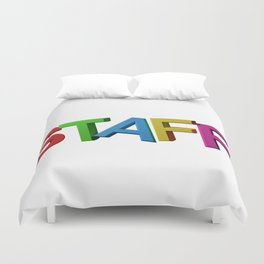 Colorful STAFF Duvet Cover