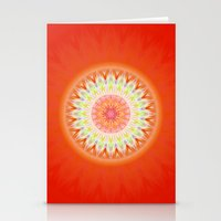 health Stationery Cards featuring Mandala Health by Christine baessler