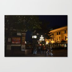 Steamclock in Vancouver Canvas Print