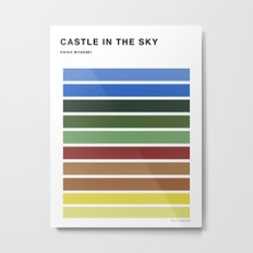The colors of - Castle in the sky Metal Print