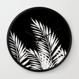 Palm Leaves White Wall Clock