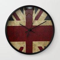 england Wall Clocks featuring England Reisen by Fine2art