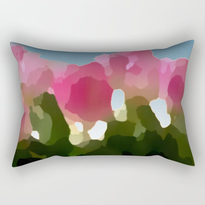 Hint of Tulips Rectangular Pillow