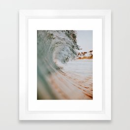 summer waves xiii Framed Art Print