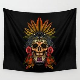 Aztec Warrior Wall Tapestry