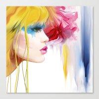 makeup Canvas Prints featuring makeup by tatiana-teni