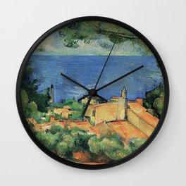L'Estaque – Paul Cezanne Wall Clock