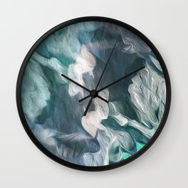 Emerald milk Wall Clock
