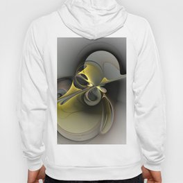 Abstract, Golden Gray Fractal Art Hoody