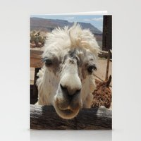 lama Stationery Cards featuring Lama  by Ricarda Balistreri