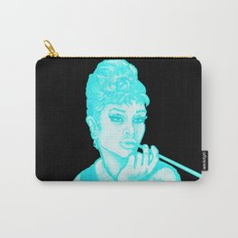 Gia as Hepburn Bright Blue Carry-All Pouch