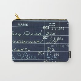 Library Card 23322 Negative Carry-All Pouch