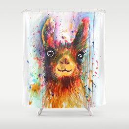 Llama love Shower Curtain