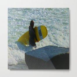 Little Surfer Girl Metal Print