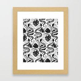White Snakes Framed Art Print