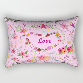 Say I love you with flowers Rectangular Pillow