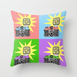 Let's warholize...and say cheese! Throw Pillow