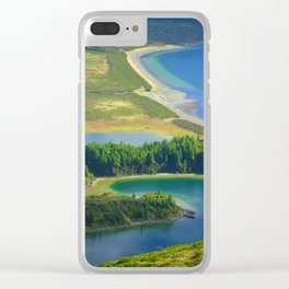 Colorful lake Clear iPhone Case