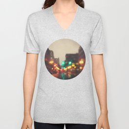 Portland In The Rain Unisex V-Neck