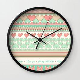 Love(ly) pattern Wall Clock