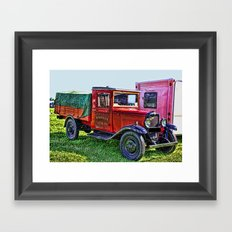 Vintage Transport Framed Art Print
