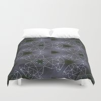 constellations Duvet Covers featuring constellations by monicamarcov