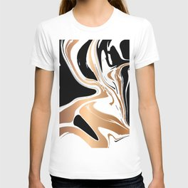 Black and Gold Marble 027 T-shirt