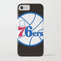 nba iPhone & iPod Cases featuring NBA - 76ers by Katieb1013