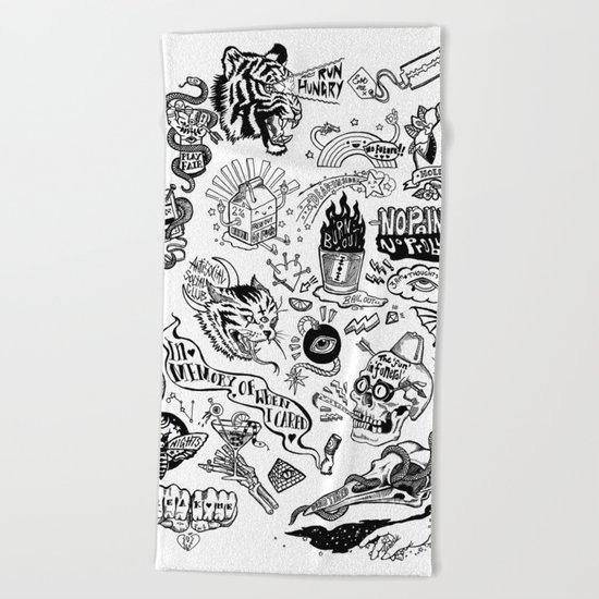 3am Thoughts Club Beach Towel