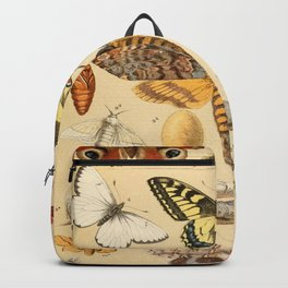 Popular History of Animals Butterfly Vintage Scientific Illustration Educational Diagrams Backpack