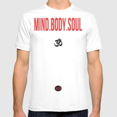 Mind.Body.Soul White Mens Fitted Tee MEDIUM